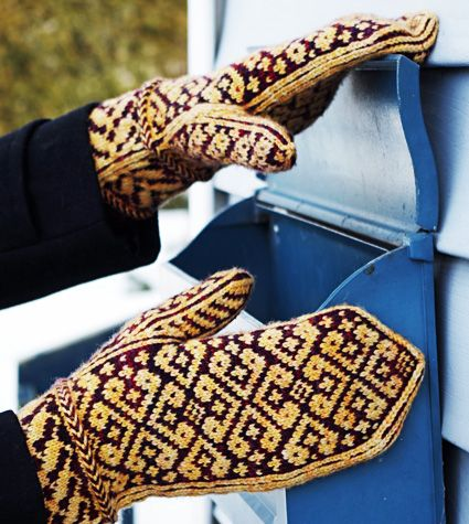 Warm Hearted Mittens: Mittens are constructed from cuff to tip. A picot edged cuff, two Latvian braids and construction with a thumb gusset give the mittens a comfortable fit. They will look good in many color combinations and will warm your hands during cold winter days.