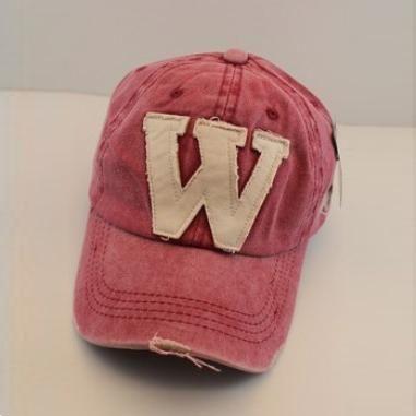 Free Shipping Korean Fashion Vintage Baseball Caps Hip hop Cap Letter W Hat For Men And Women PMS016