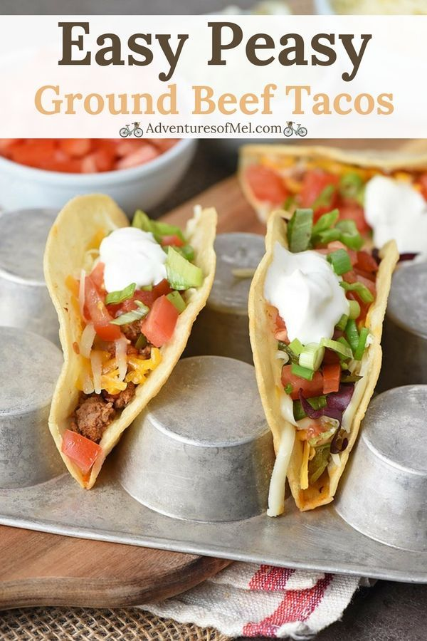 The Best Beef Tacos Ever Made With Crispy Crunchy Fried Corn Tortilla Shells Seasoned Hamburger And All The Delicious C Ground Beef Tacos Tacos Beef Food