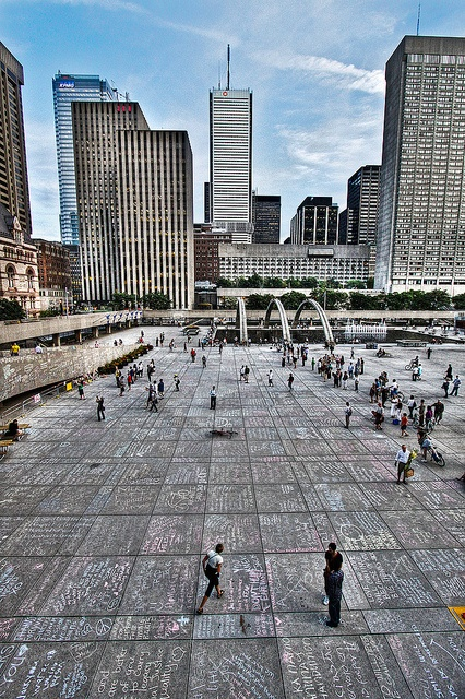 Jack Layton Chalk Memorial, Nathan Phillips Square, Toronto ... There wasn't enough room to show the love for Jack !
