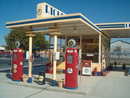 The ding, ding sound when you pulled into a gas station!