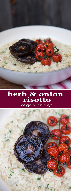 Herb & Onion Risotto - vegan & gluten free