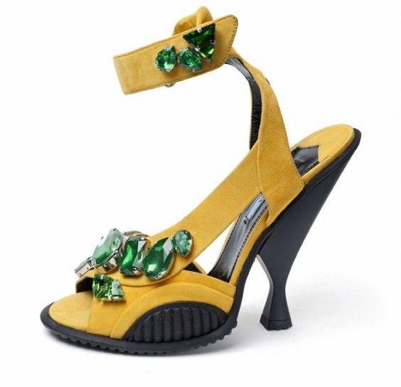 Sandali gialli Prada