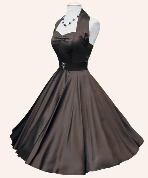 '50s Halterneck Satin Swing Dress'  LOVE this!