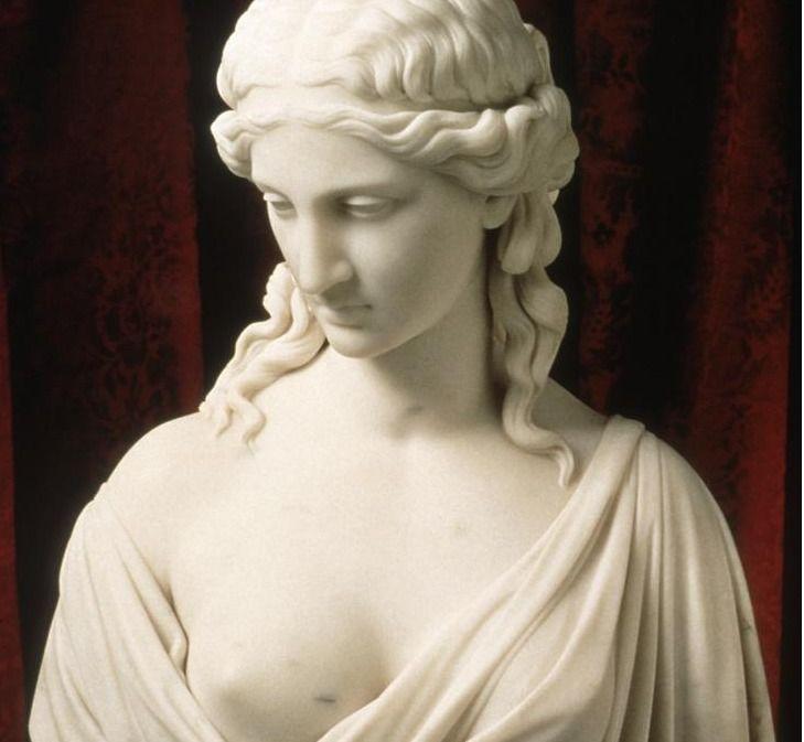 Chauncey Bradley Ives  Ariadne bust detail