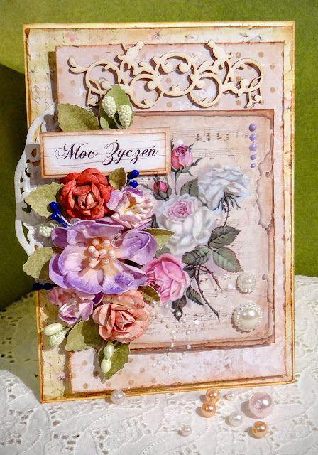 cardmaking, flowers diy kartki