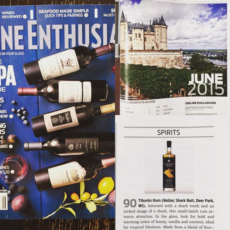 @BelizeanRum: We made the June Issue of Wine Enthusiast at a 90 rating and named best buy! #Belize #tiburonrum