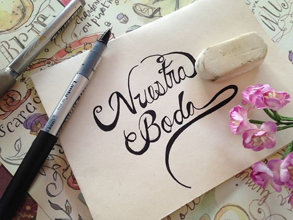 En este post Stephanie de Les Fleurs de mon Amour te enseña a hacer letra cursiva para decorar invitaciones para boda.