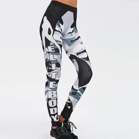 Camo Bodybuilding Fitness Leggings Women