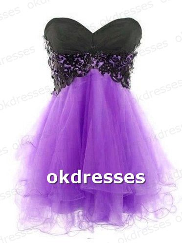 Lace Ball Gown Sweetheart Mini Pro | Gowns, Homecoming and Purple ...