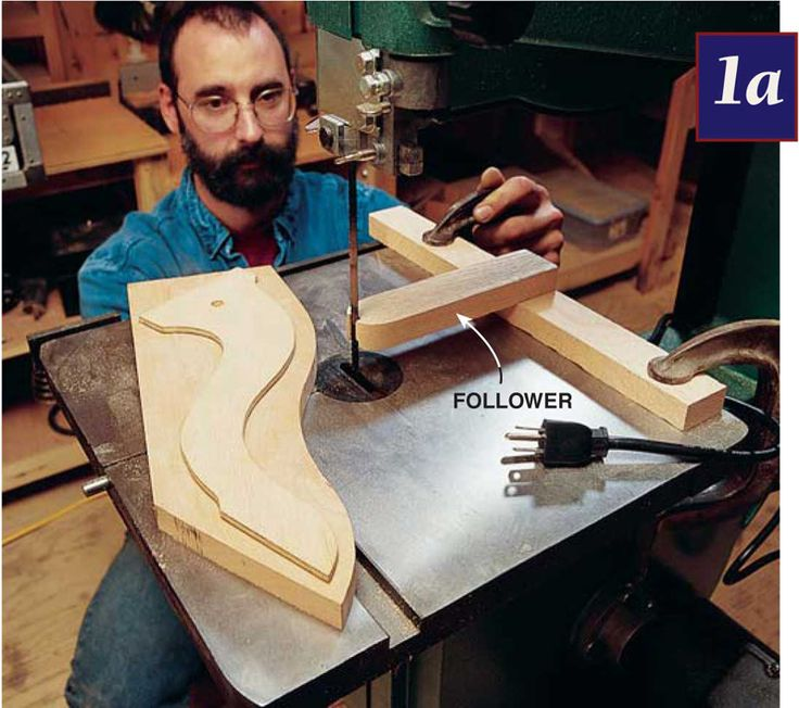 Bandsaw Jigs By George Vandriska Your bandsaw is one of the most versatile tools in your shop. These five jigs and techniques will help you handle some unusual situations. Cutting Multiples Click any image to view a larger version. If you need to make a lot of identical parts using a template, a pattern cutter is very handy. It won't completely eliminate steering the material, but it's a lot easier …