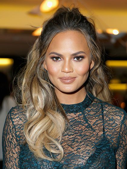 51 New Hair Ideas: Chrissy Teigen's sexy, half-up hair | allure.com