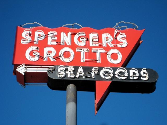 90 best vintage signs images on pinterest vintage plates for Spenger s fresh fish grotto