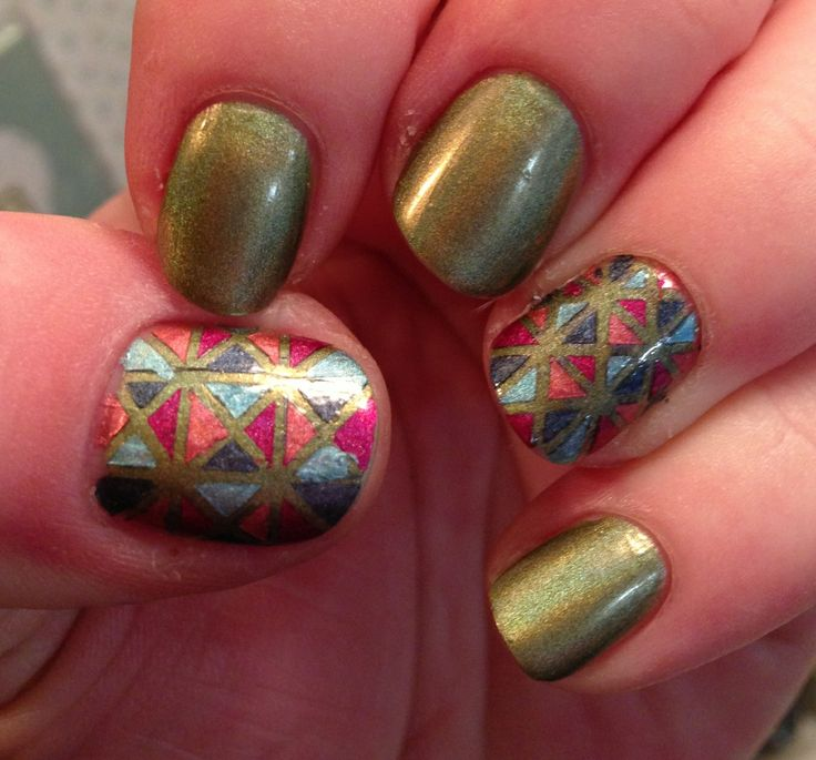 Nail Cake A England Kiko Stained Glass Nail Art: 155 Best Stained Glass Nail Art Images On Pinterest