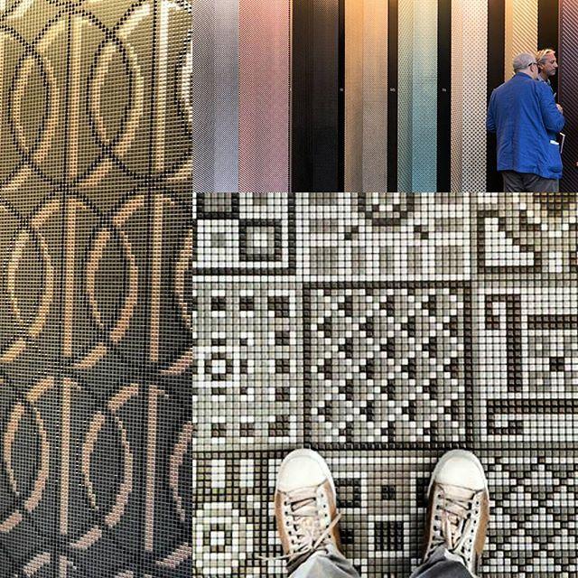 Графичная #мозаика #Appiani #геометрия #тренд2015 #Cersaie2015 от @altaeco_group #плитка #керамика #BolognaFiera #bologna #вседляванной #дизайнинтерьера #дизайн #яркийдизайн #потомучтокрасиво