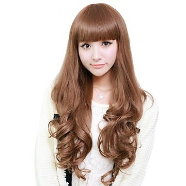 High+Quality+Synthetic+Full+Bangs+Capless+Long+Curly+Hair+Wig+–+USD+$+15.99