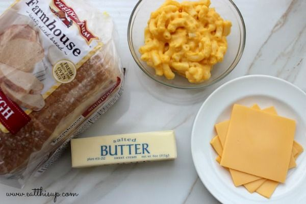 Grilled Mac and Cheese Sandwich Ingredients