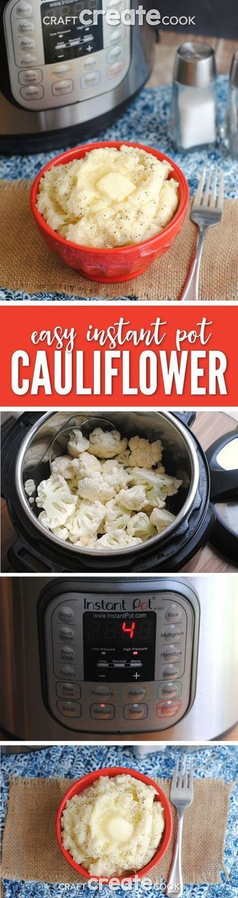 Keto Instant Pot Mashed Cauliflower