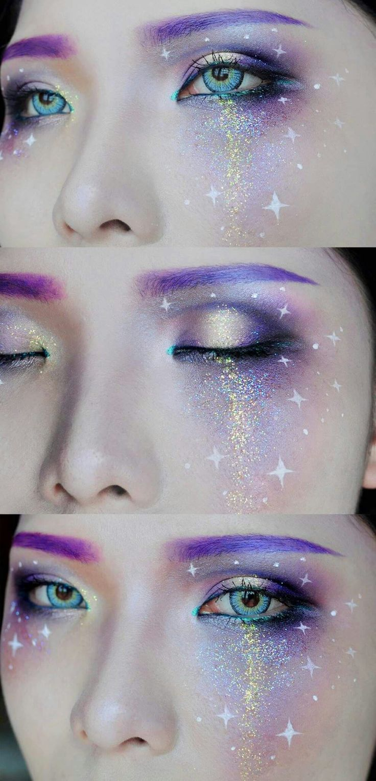 galaxy makeup - Eyeshadow For Halloween