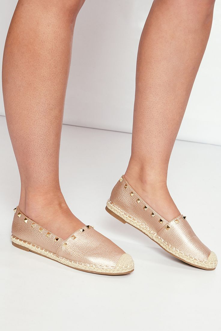 Lily Rose Gold Studded Espadrilles