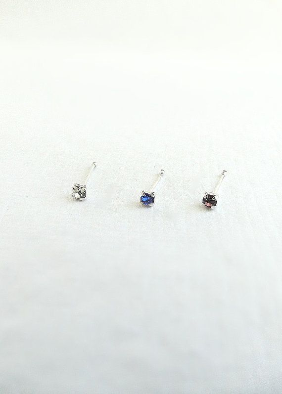 Super tiny Silver nose stud silver body jewelry by laplumeblanche