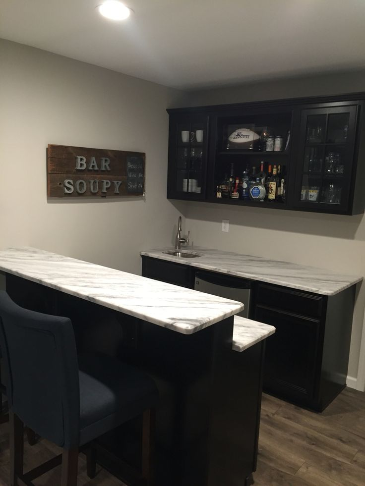Finished Basement Remodel Project: The Basement Bar Small Basement Bar. The  Walls Are Painted