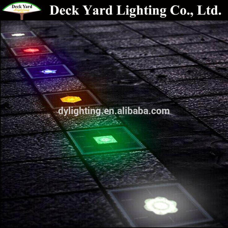 Color Changing Solar Stone Paver Brick Landscape Lightings