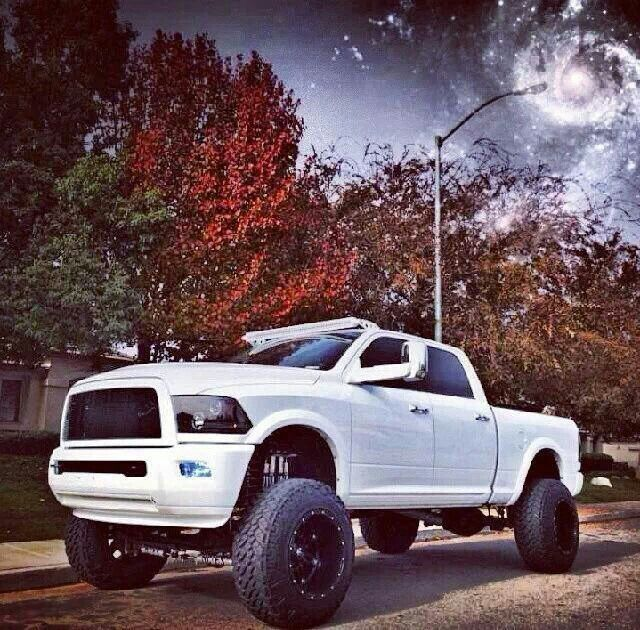 Lifted White F150 2004
