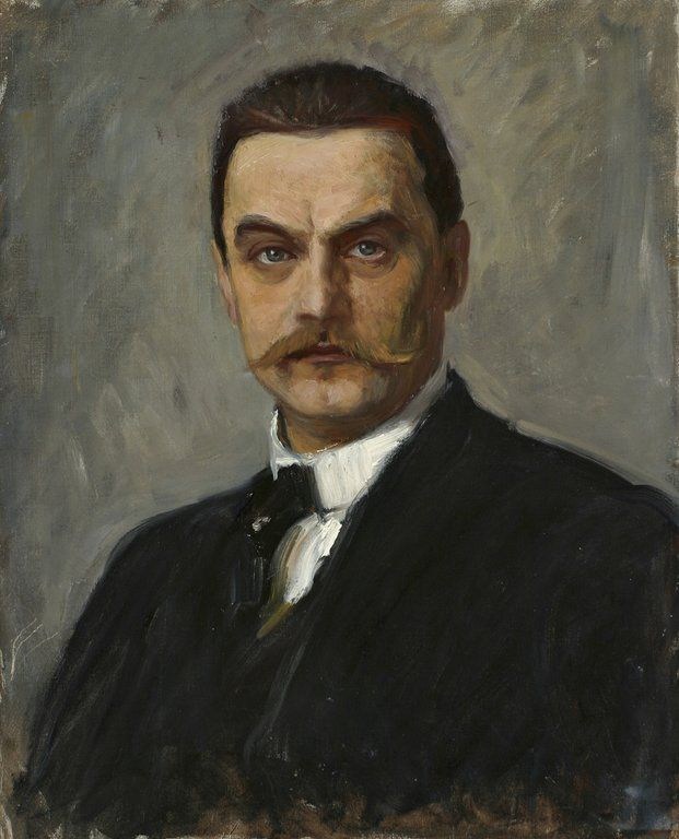 Albert Edelfelt (b. 21 July 1854), Finnish painter.  - Self portrait. *** http://en.wikipedia.org/wiki/Albert_Edelfelt