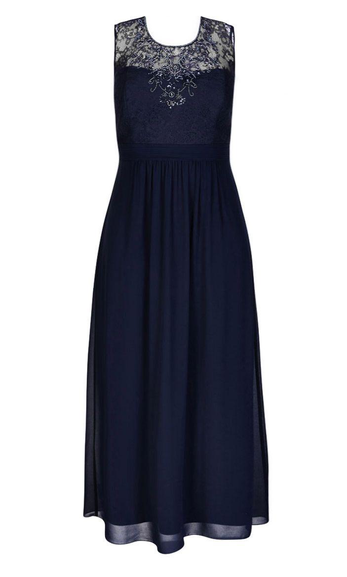 City Chic - BEADED LACE MAXI DRESS - Women's Plus Size Fashion
