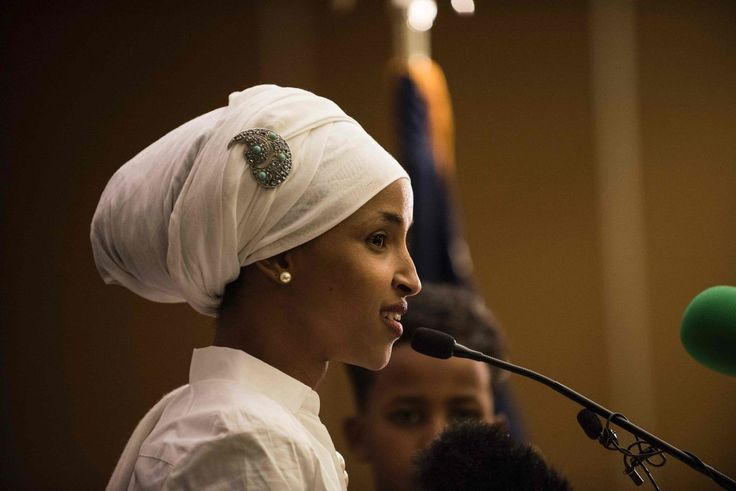 Ilhan Omar, Abgeordnete des staates Minnesota im Repräsentantenhaus der USA - trotz Trumpismus