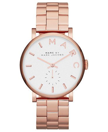 simple rose gold watch