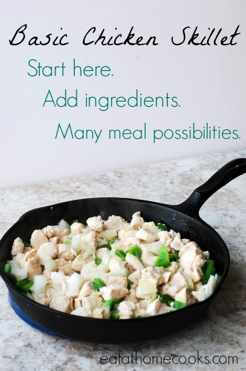Basic Chicken Skillet - The Foundation for Lots of Meal Possibilities