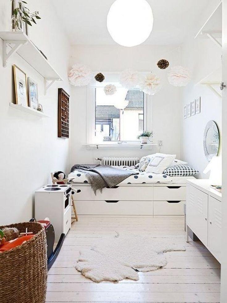 Erstaunliche 14 Erstaunliche Ideen Fur Schmale Schlafzimmer Designs Die Ihren Schlaf Designs Erst Kleine Zimmer Einrichten Kleines Zimmer Kinder Zimmer