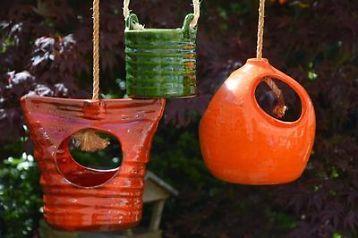 Vintage Keramiek Hangpotten/Plantenhangers