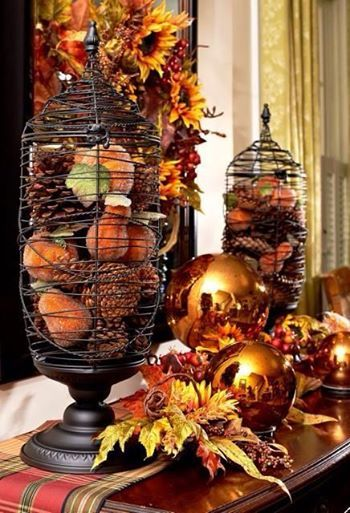 Love these wire apothecary jars for Fall or Christmas or year-round!