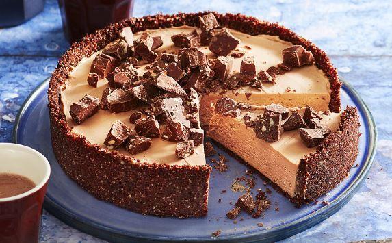 Cheesecake+Toblerone+χωρίς+ψήσιμο