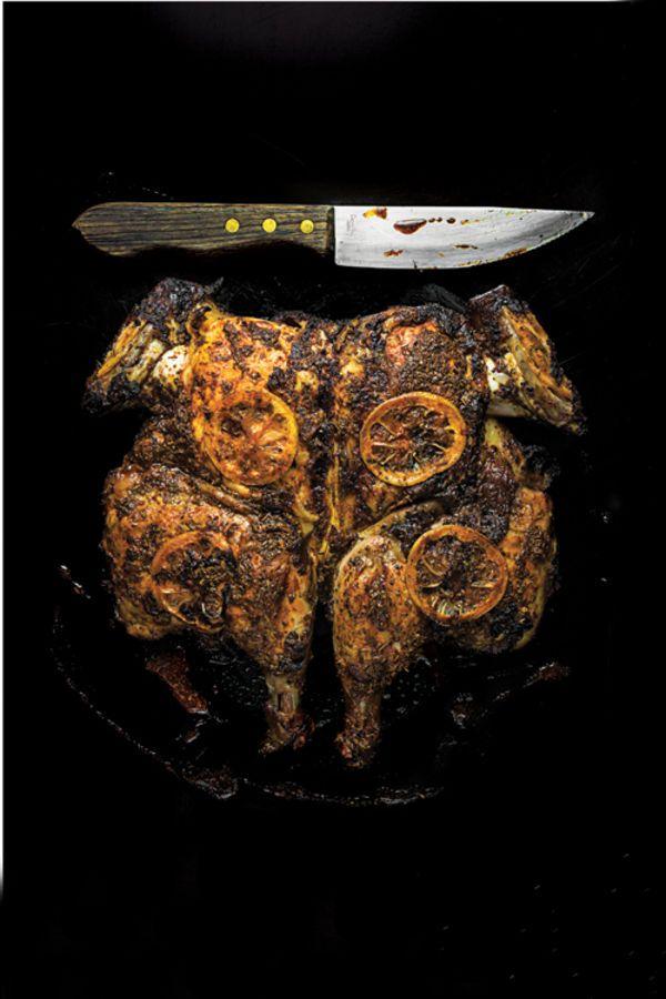 Adobo Chicken Under a Brick Recipe | SAVEUR