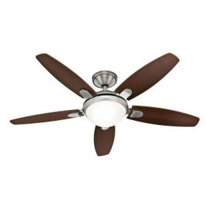This is a low profile Hunter Contempo 52 in. Indoor Brushed Nickel Ceiling Fan-59013 at Springlights Kloof and Hillcrest. For more info go look at our website at www.springlights.net