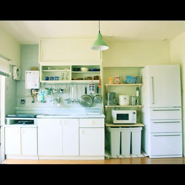 さらば冷蔵庫 団地部 セルフリノベーション 見せる収納 無印良品のインテリア実例 2014 06 15 18 13 48 Roomclip ルームクリップ 狭いキッチン レイアウト キッチンレイアウト 小さなアパートのキッチン