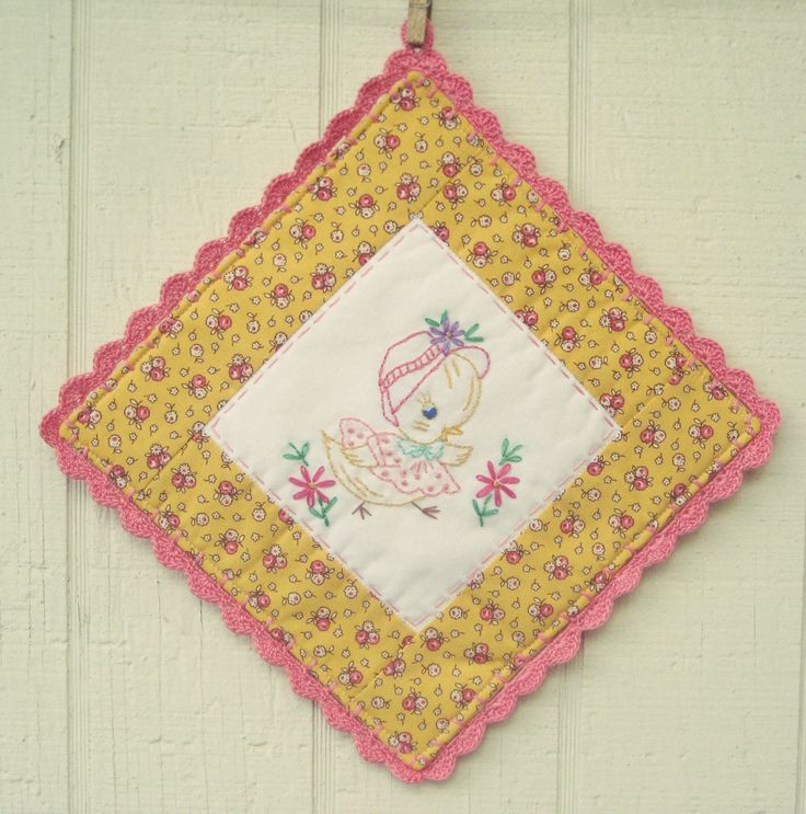 Homemade Pot Holders: 17 Best Images About Potholders On Pinterest