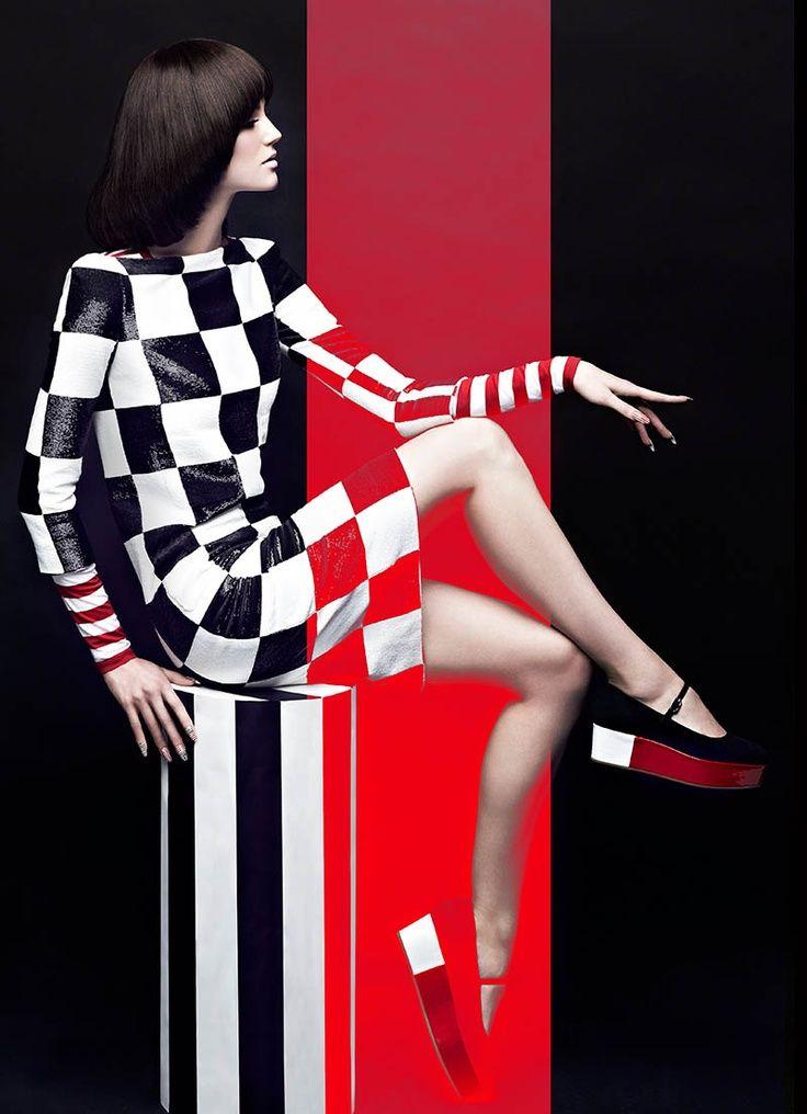Magazine: Fashion Magazine May 2013 Title: High Contrast Model: Samantha Rayner Stylist: Zeina Esmail Hair and makeup artist: Greg Wencel Photographer: Chris Nicholls