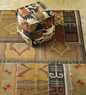 Gold Patchwork Kilim Rug. $395 by VivaTerra