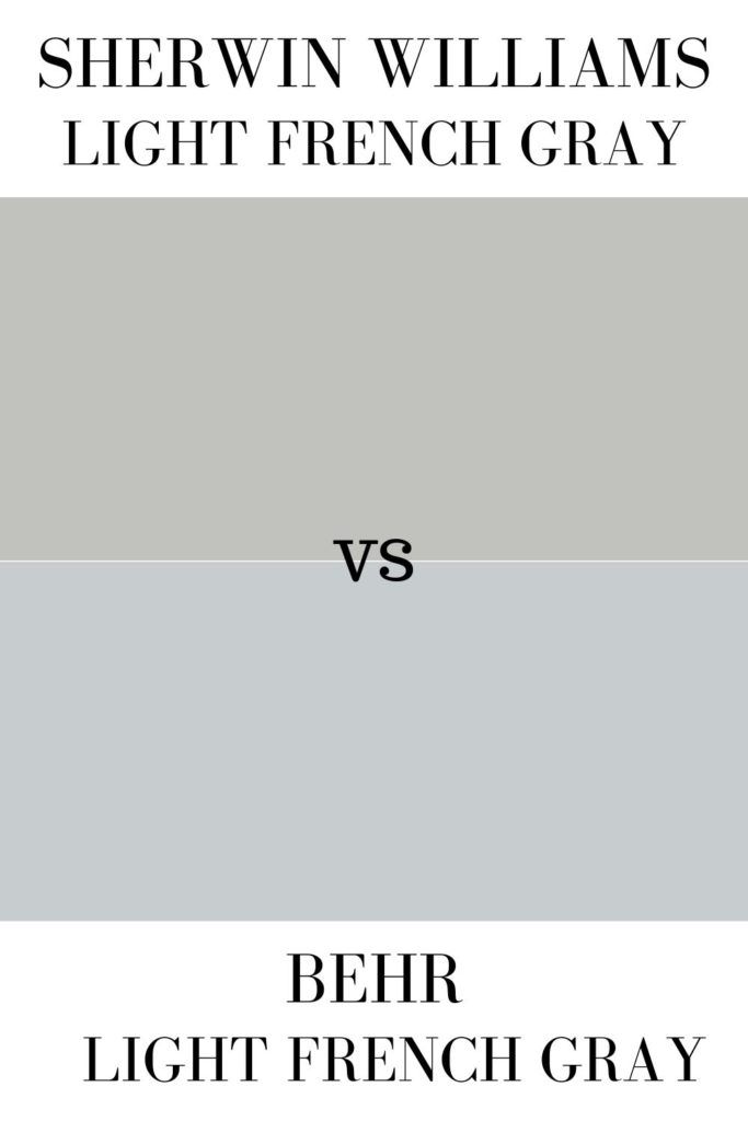 sherwin williams light french gray sw 0055 light gray on behr paint comparison chart id=81362