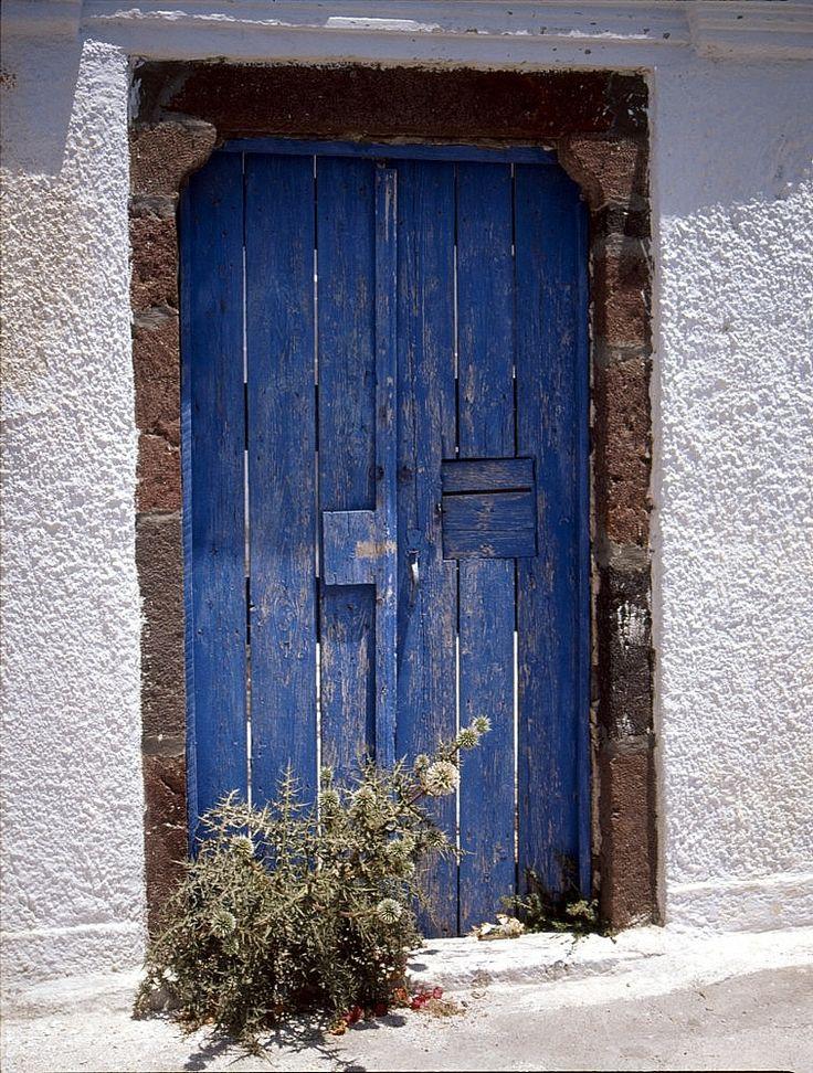 Pyrgos, Tür, blau - Bild