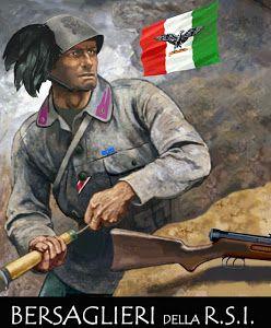 Italy, WWII, Bersaglieri RSI (Repubblica Sociale Italiana - Italian Social Republic 1943-1945)