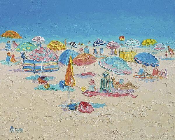 Crowded Beach! #beachart #MyrtleBeach #beachdecor