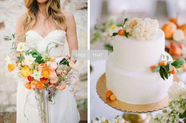 Marigold and Orange Wedding (Via @acoastalbride)