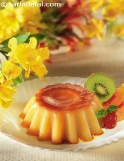 Caramel Custard (Eggless) recipe | Mexican Recipes | by Tarla Dalal | Tarladalal.com | #1223
