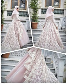 muslimweddingideasStunning dress ♥ Love the lace layer ♥